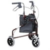 3 Wheeled Alum Rollator RED-walking-aids-Access Mobility