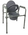 Folding Commode Grey-bathroom-Access Mobility