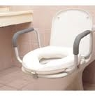 "Toilet Seat Riser with Fixed Arms - 2""-bathroom-Access Mobility"