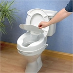 "Savanah Raised Toliet Seat With Lid 2""-toilet-aids-Access Mobility"